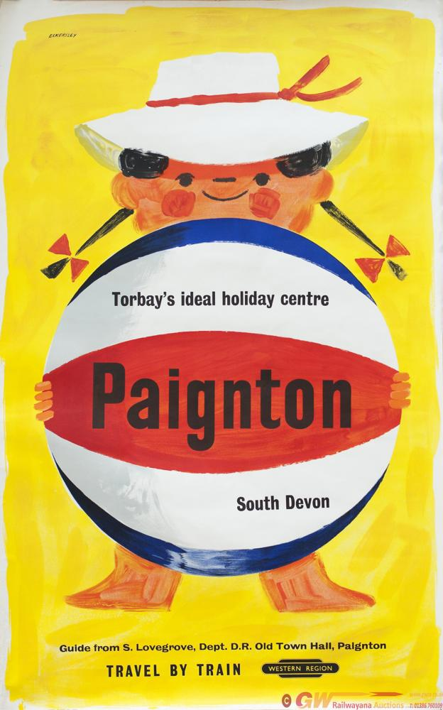 Poster BR(W) PAIGNTON TORBAY'S IDEAL HOLIDAY