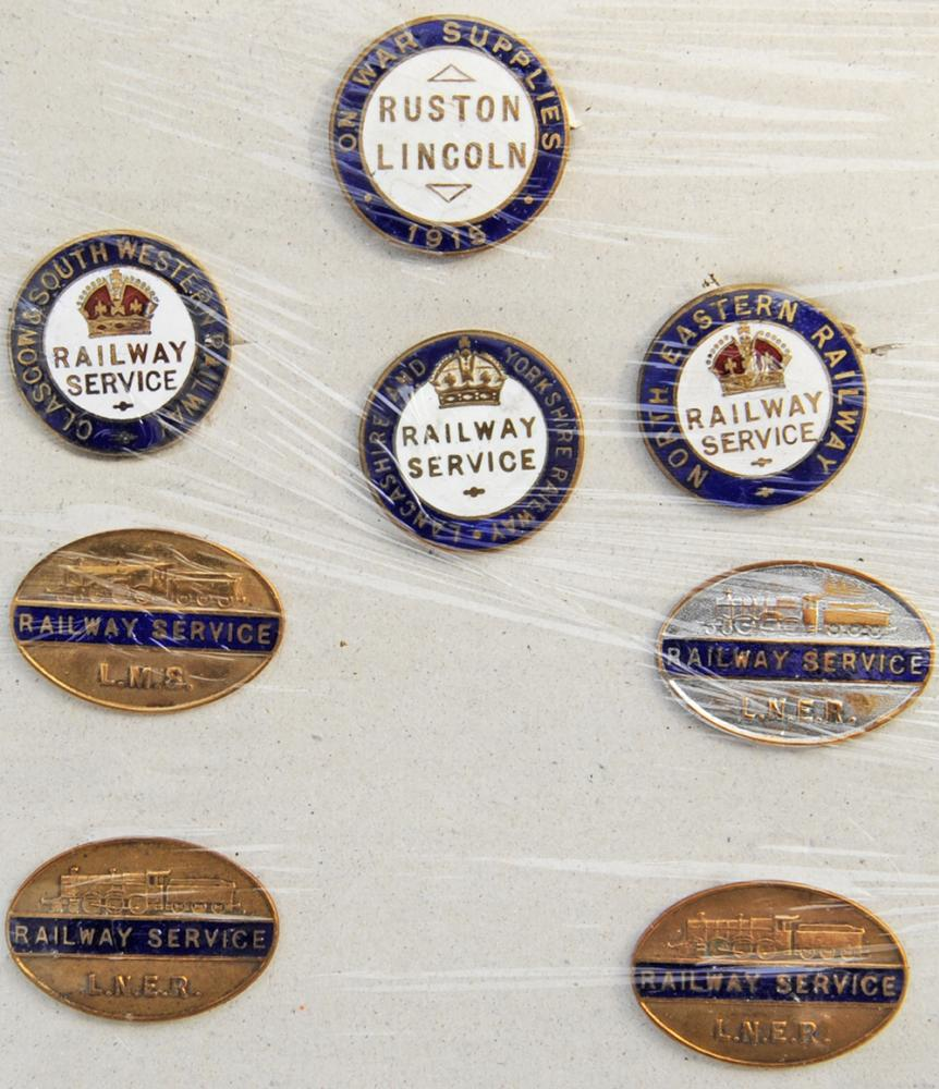 War Service Enamel Badges, Qty 8 To Include: Rare