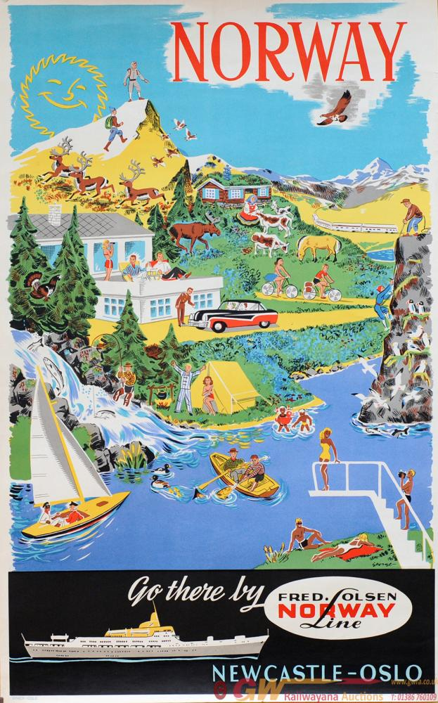 Poster 'Norway - Go  There By Fred Olsen Norway
