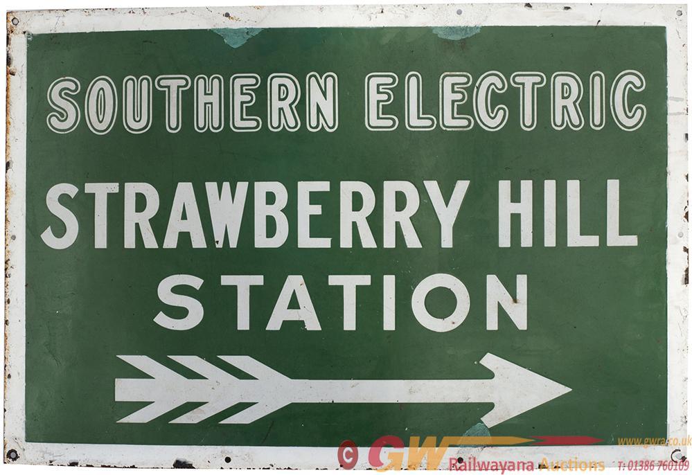 SR Enamel Direction Sign SOUTHERN ELECTRIC