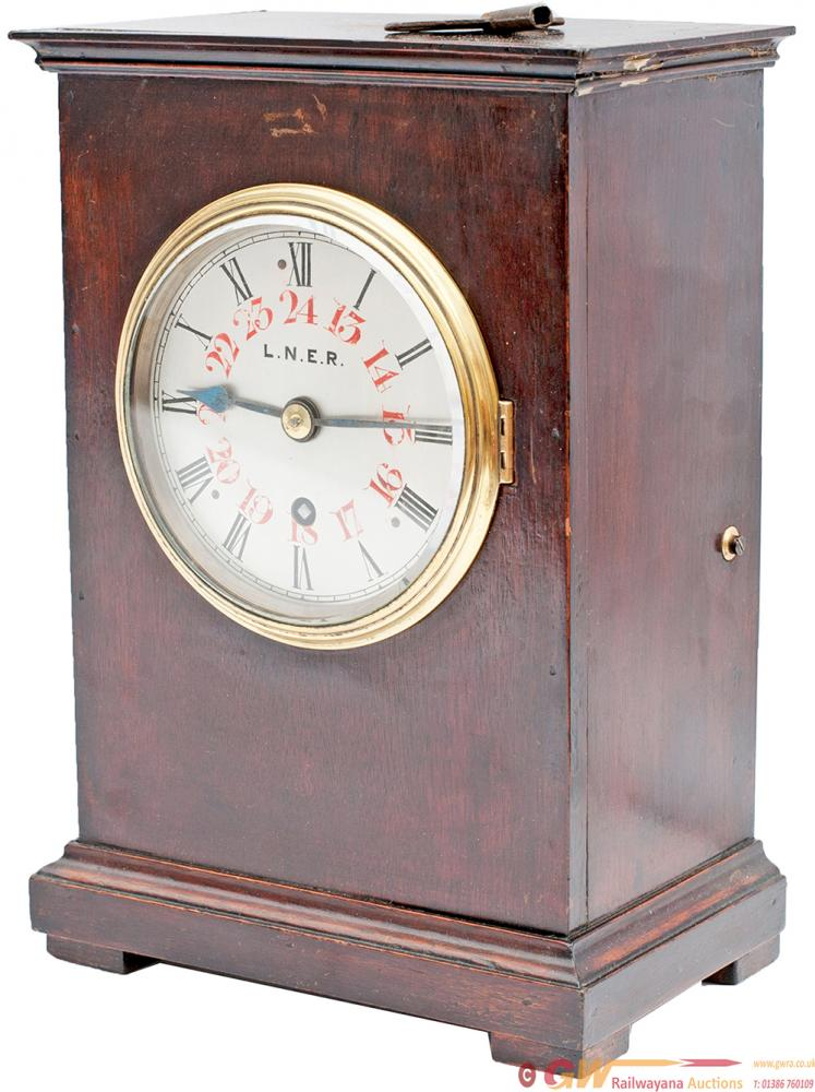 LNER Mahogany Cased Fusee Bracket Clock. The 5in
