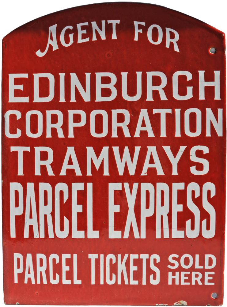 Enamel Advertising Sign Agent For Edinburgh