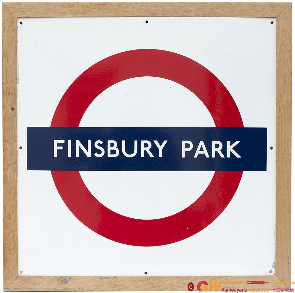 London Underground Enamel Target/ Bullseye Sign