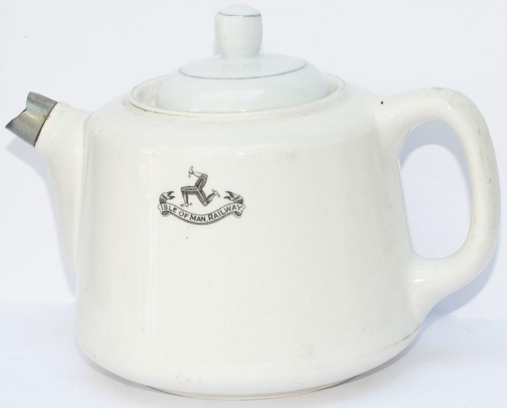 Isle Of Man Railway China Teapot With Full Coat Of