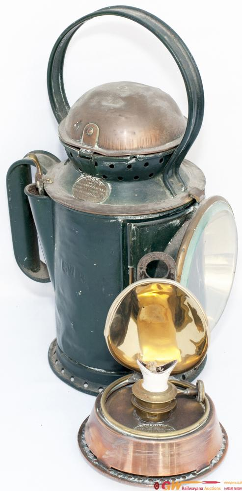 GWR Wrights Patent Coppertop 3 Aspect Handlamp
