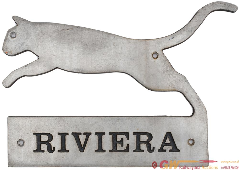 Riviera Trains Cabside Ownership Plate Ex Class 47