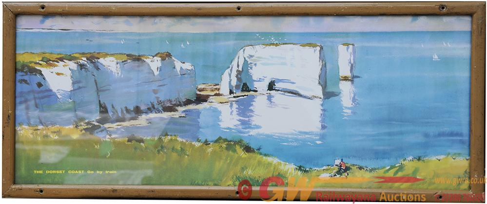 Carriage Print 'The Dorset Coast - Go By Train' By