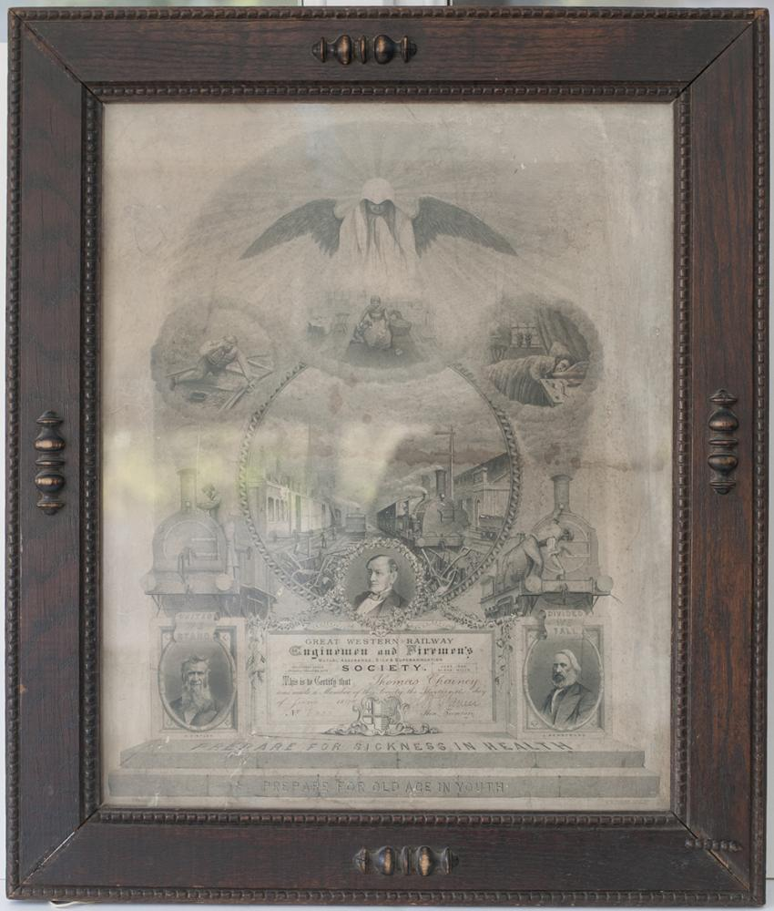 GWR Framed And Glazed Enginemen And Fireman's