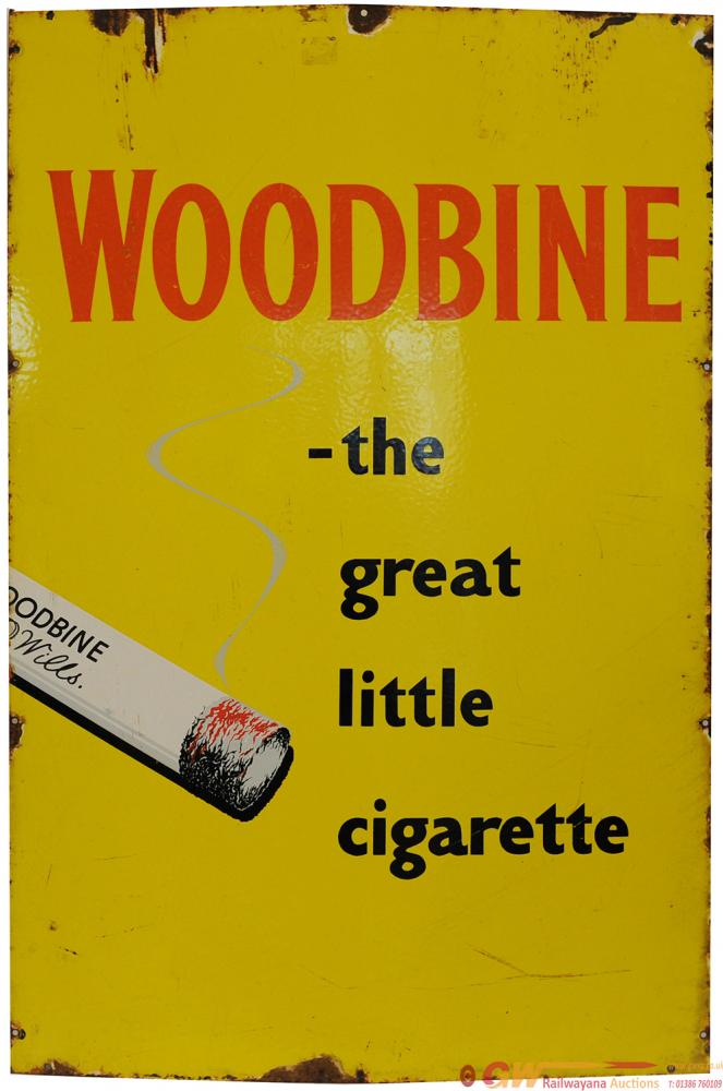 Advertising Enamel Sign 'Woodbine The Great Little