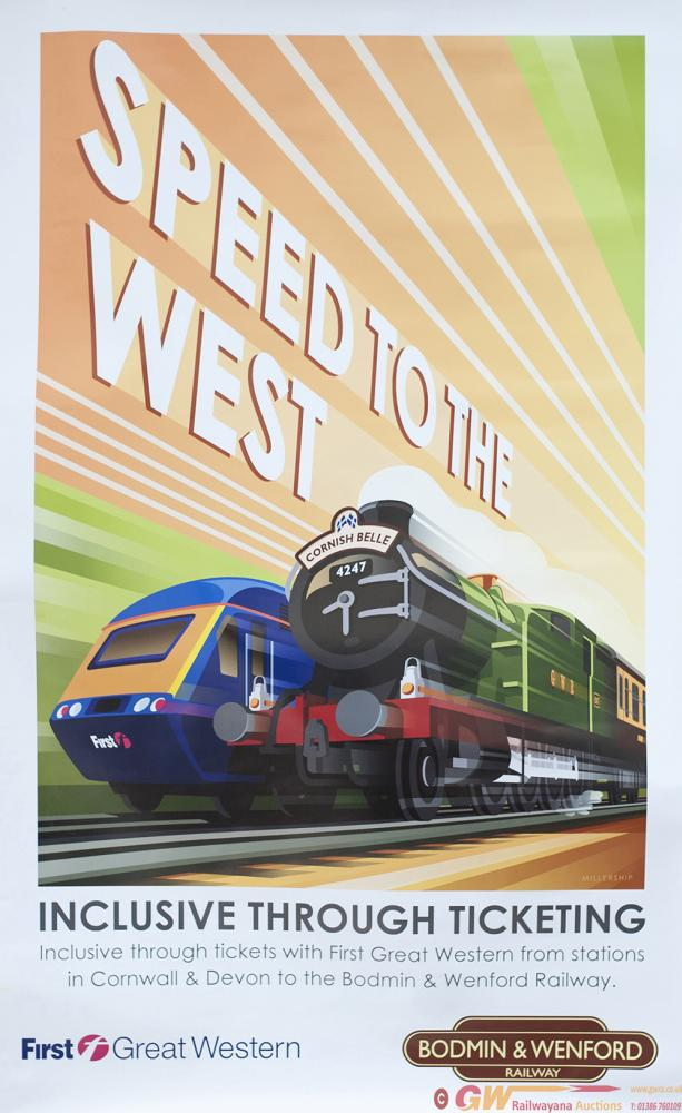 Poster SPEED TO THE WEST By STEPHEN MILLERSHIP.