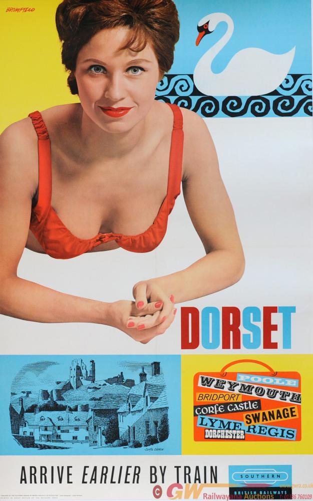 Poster British Railways 'Dorset - Arrive Earlier