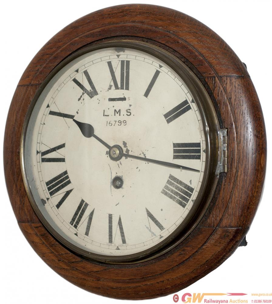 LMS 8 Inch Oak Cased Railway Clock With A Smiths