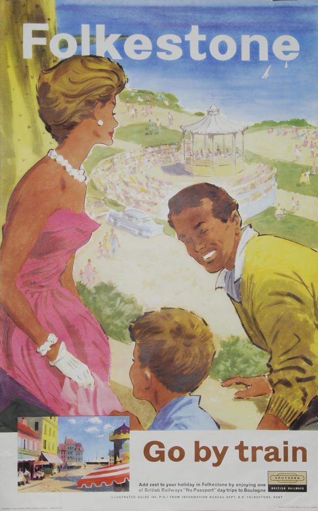 Poster BR(S) 'Folkestone Go By Train - Add Zest To