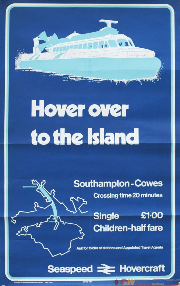 Poster BR HOVERCRAFT HOVER OVER TO THE ISLAND
