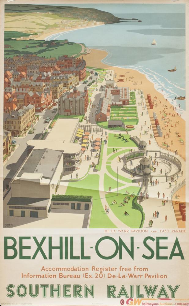 Poster SR BEXHILL-ON-SEA DE LA WARR PAVILLION AND