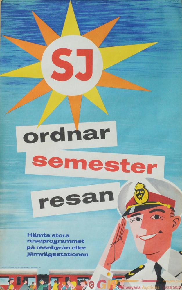 Posters - Swedish Railways Qty 2 Double Royal 25