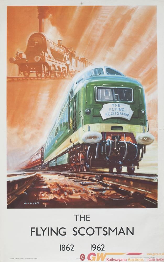 Poster BR THE FLYING SCOTSMAN 1862-1962 By Bagley.