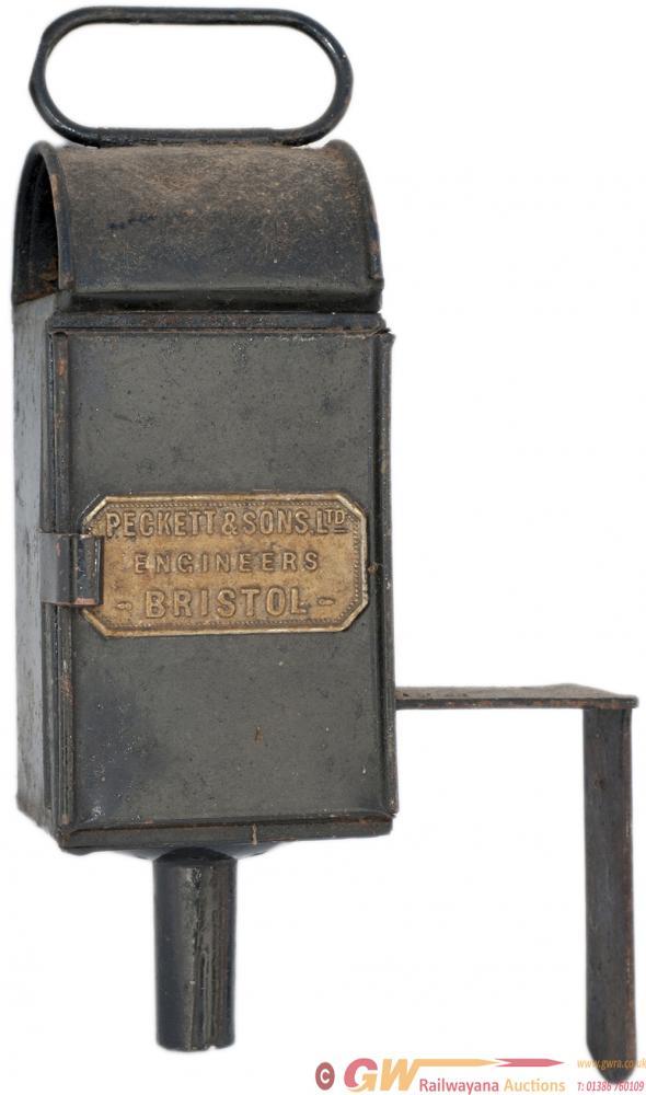 Peckett Steam Locomotive Gauge Glass Lamp, Brass