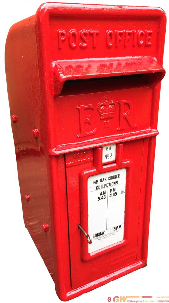 Post Office POST BOX, An Original 1950's Lamp Box