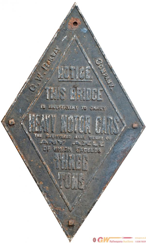 GWR Cast Iron Small Bridge Diamond Of The Same