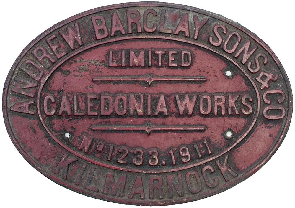 Worksplate ANDREW BARCLAY SONS & CO LIMITED