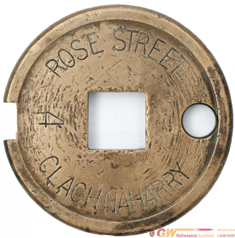 Bronze Single Line Tablet ROSE STREET -