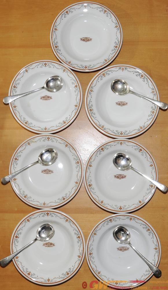 Pullman China Soup Plates By Ridgway, Qty 7 With