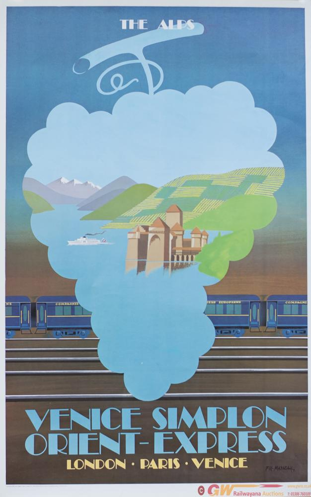 Poster VENICE SIMPLON ORIENT EXPRESS THE ALPS By