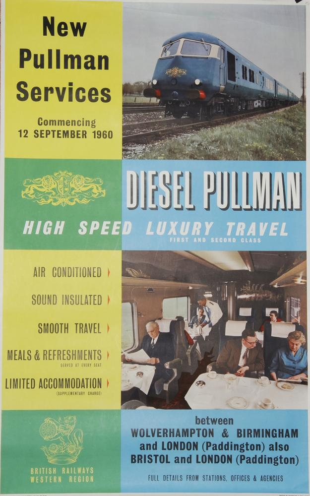 Poster 'New Pullman Services - Commencing 12th