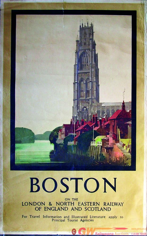 Poster, LNER D/R 'Boston On The London & North