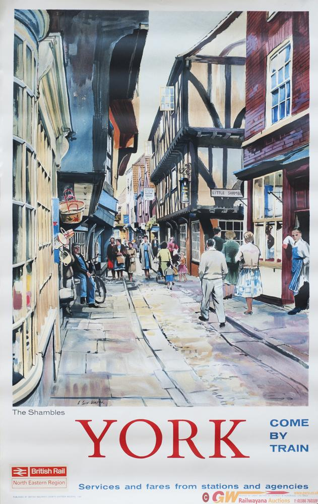 Poster BR YORK THE SHAMBLES By A. Carr Linford,