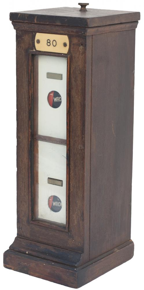 GWR Mahogany Cased Signal Double Slot Repeater