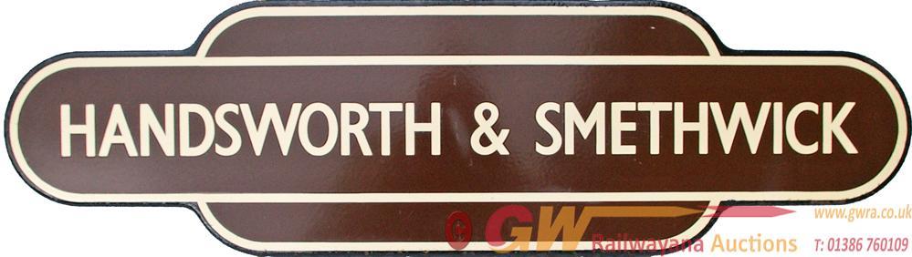 Totem, BR(W) HANDSWORTH & SMETHWICK, F/F. Ex GWR