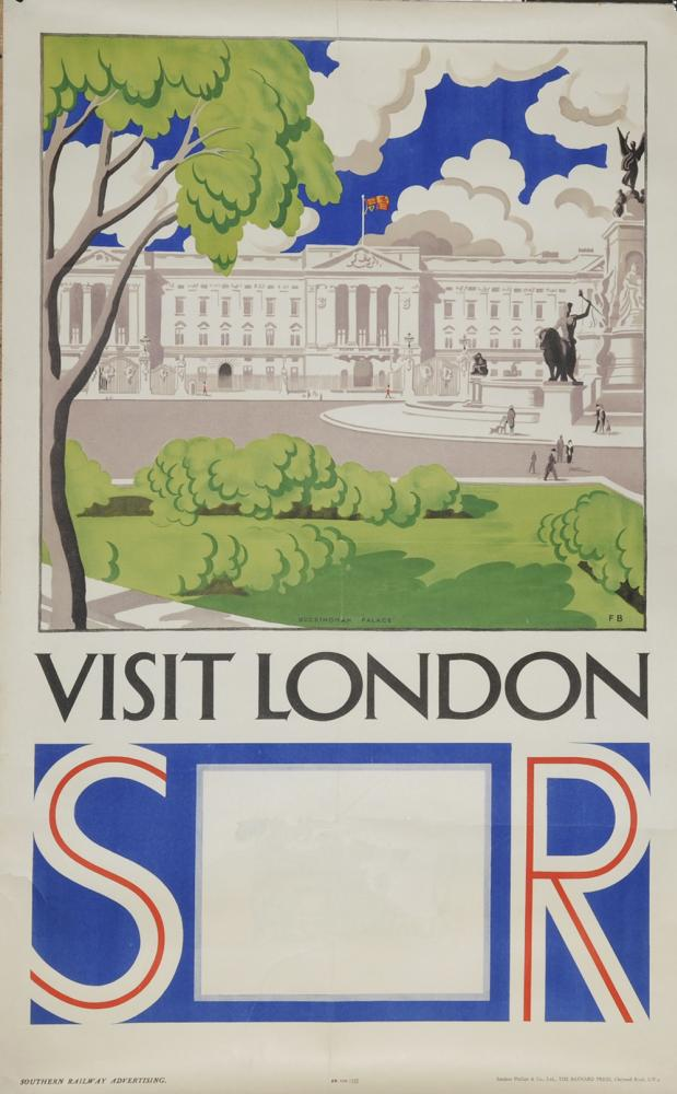 Poster, Southern Railway 'Visit London By FB, D/R