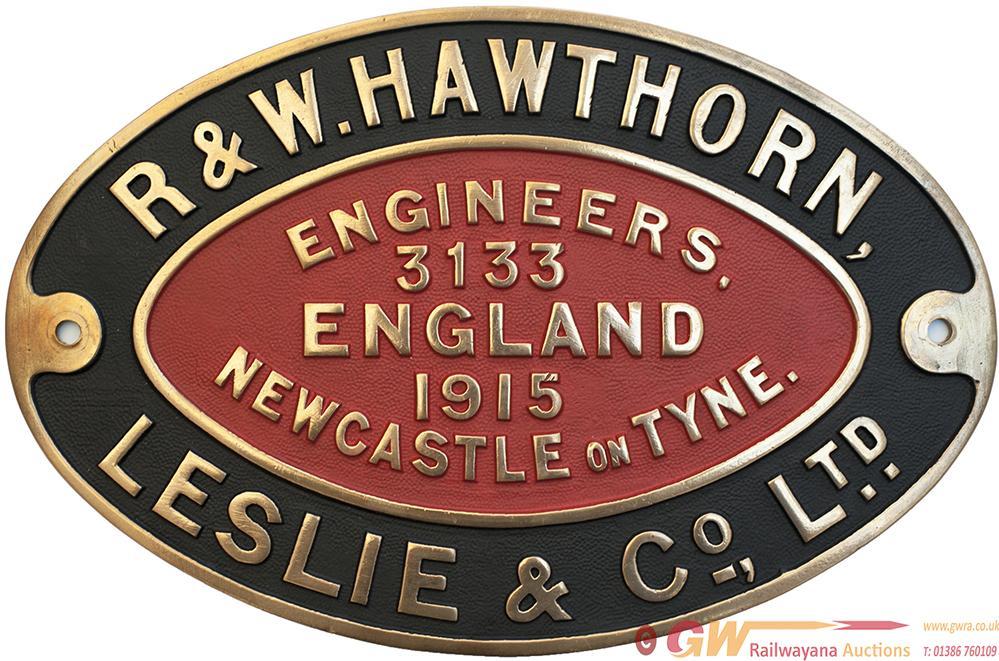 Worksplate R&W HAWTHORN LESLIE & CO LTD ENGINEERS