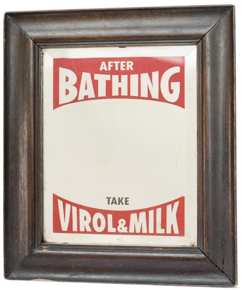 Advertising Mirror AFTER BATHING TAKE VIROL &