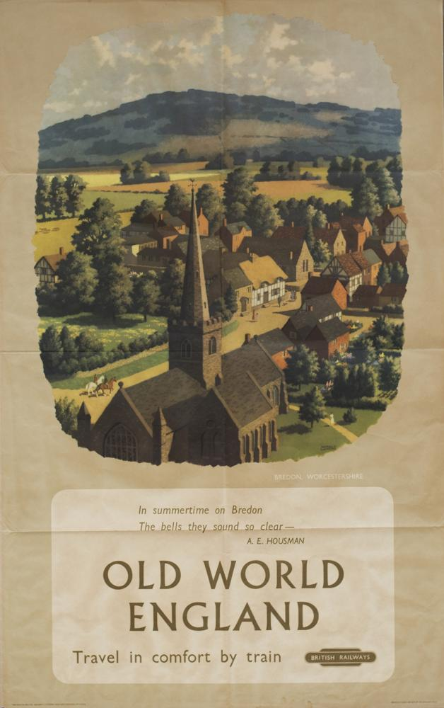Poster BR(M) BREDON WORCESTERSHIRE OLD WORLD