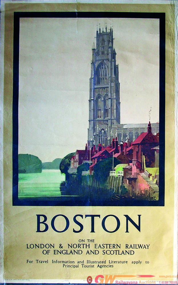 Poster, LNER D/R Boston On The London & North