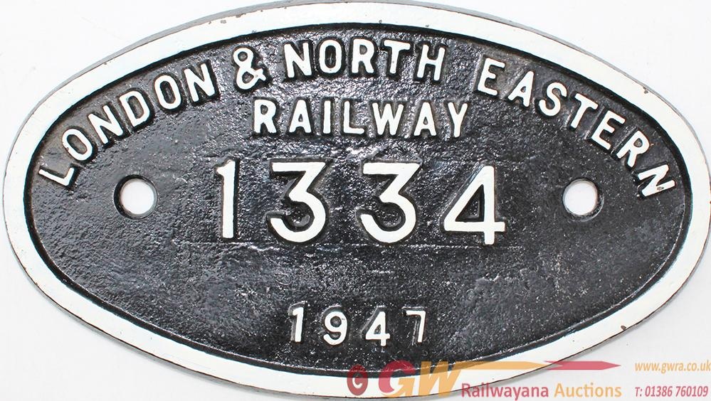 Works Numberplate 9 X 5 London & North Eastern