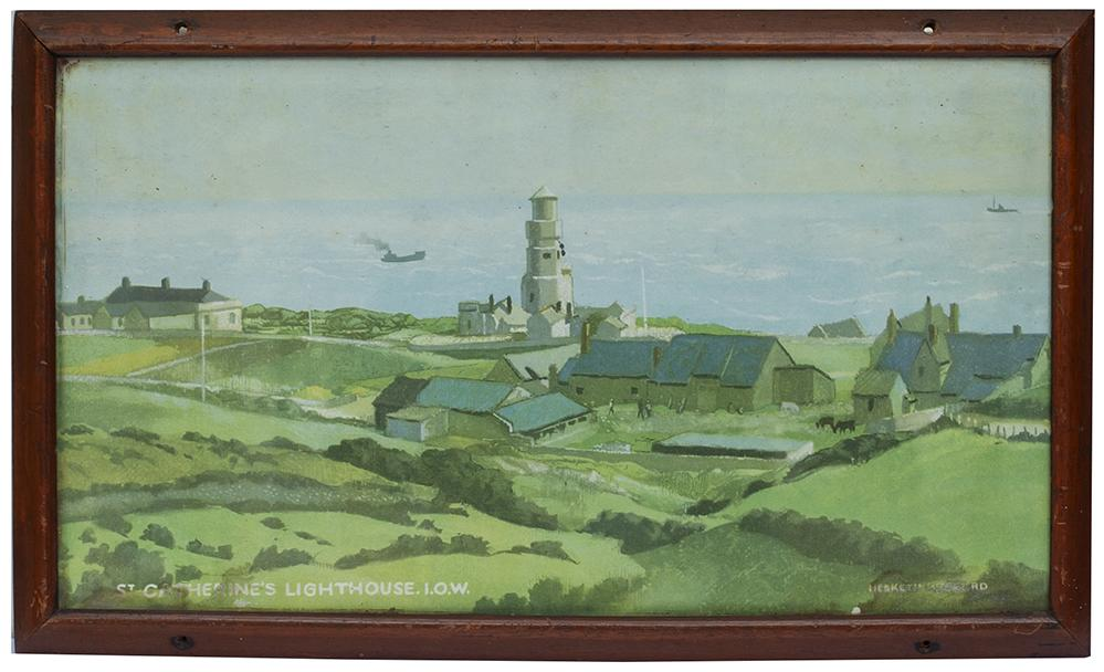Carriage Print ST CATHERINES LIGHTHOUSE IOW By