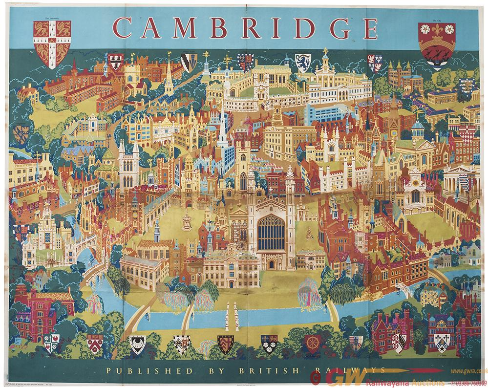Poster BR(E) CAMBRIDGE By Kerry Lee 1968. Quad