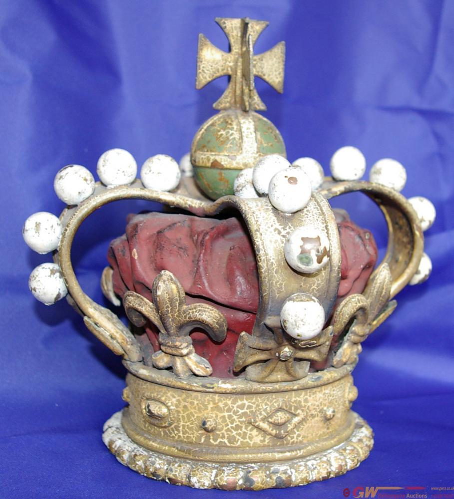 Brass Victorian Crown Emblem Believed To Originate