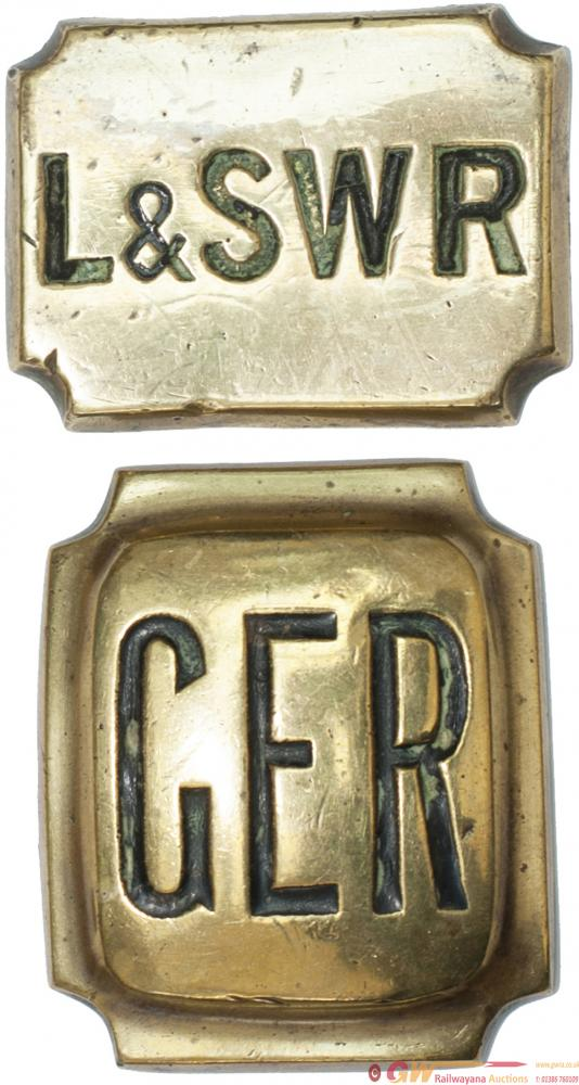 Railway Horse Brasses x2: L&SWR 2.5in X 2in Hand