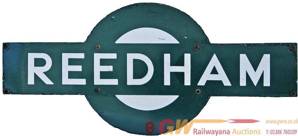 Southern Railway Enamel Target Sign REEDHAM. Ex
