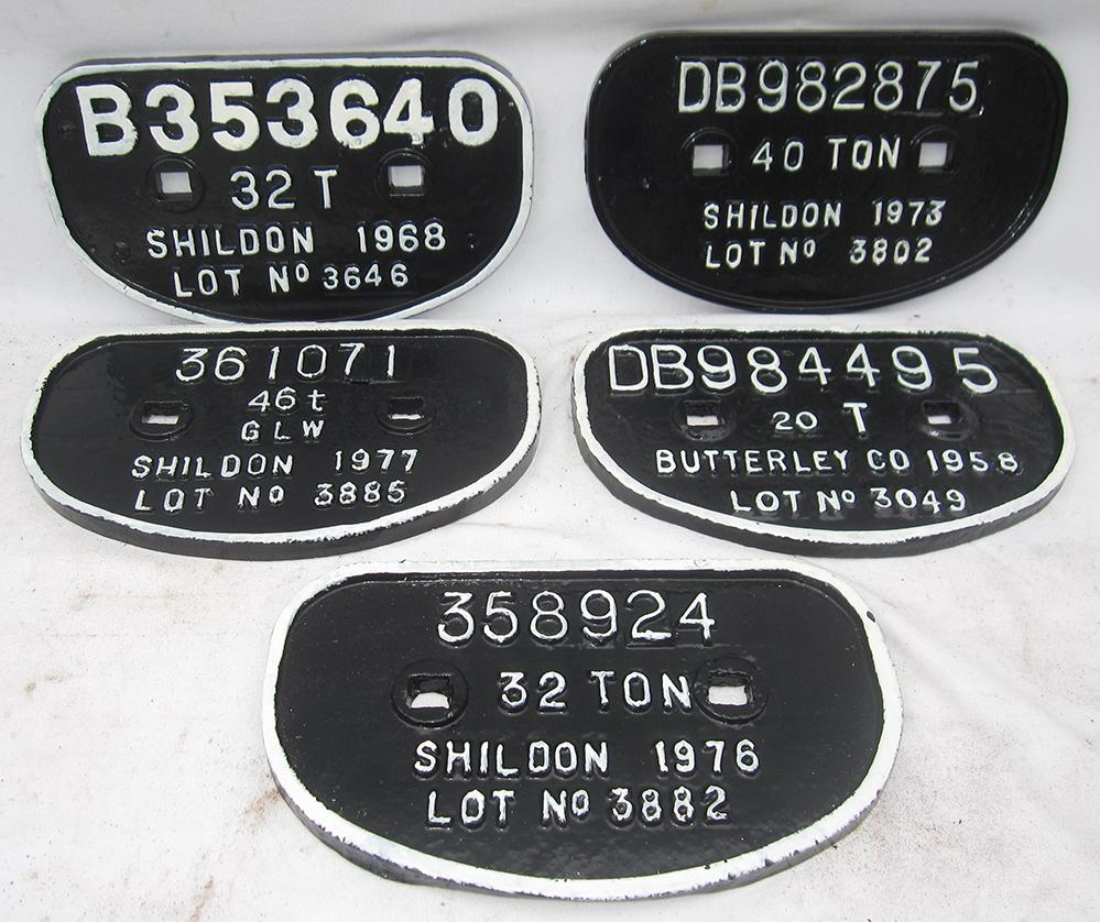 A Collection Of 5 D Wagon Plates. b353640 32t