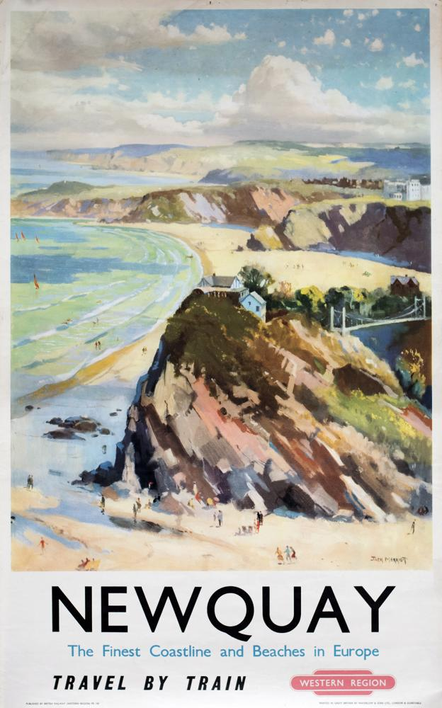 Poster BR(W) NEWQUAY THE FINEST COASTLINE AND