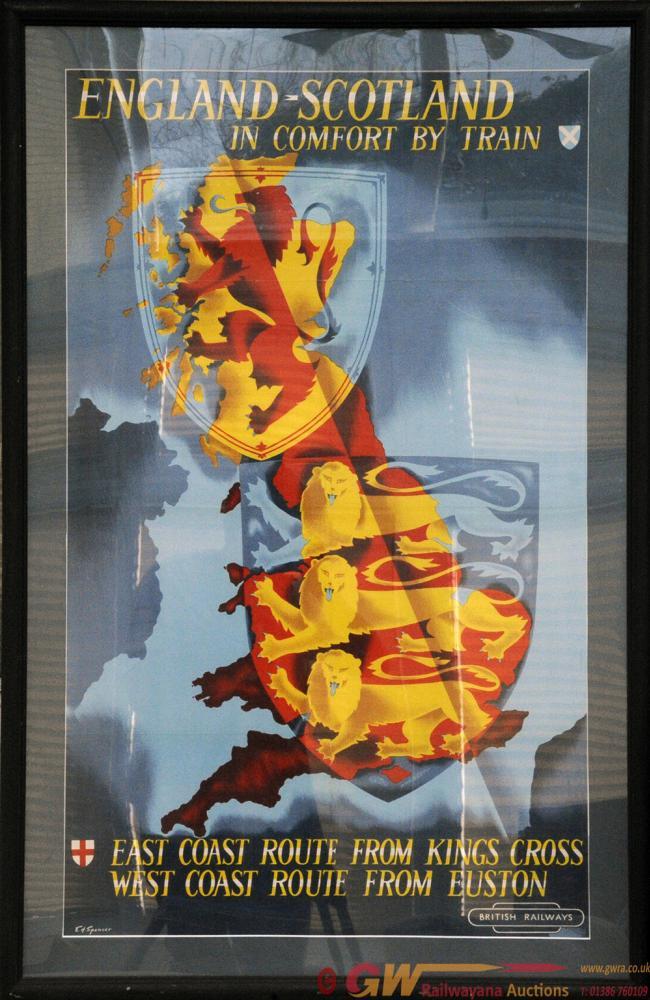 Poster BR(ER) 'England-Scotland' By E H Spencer,