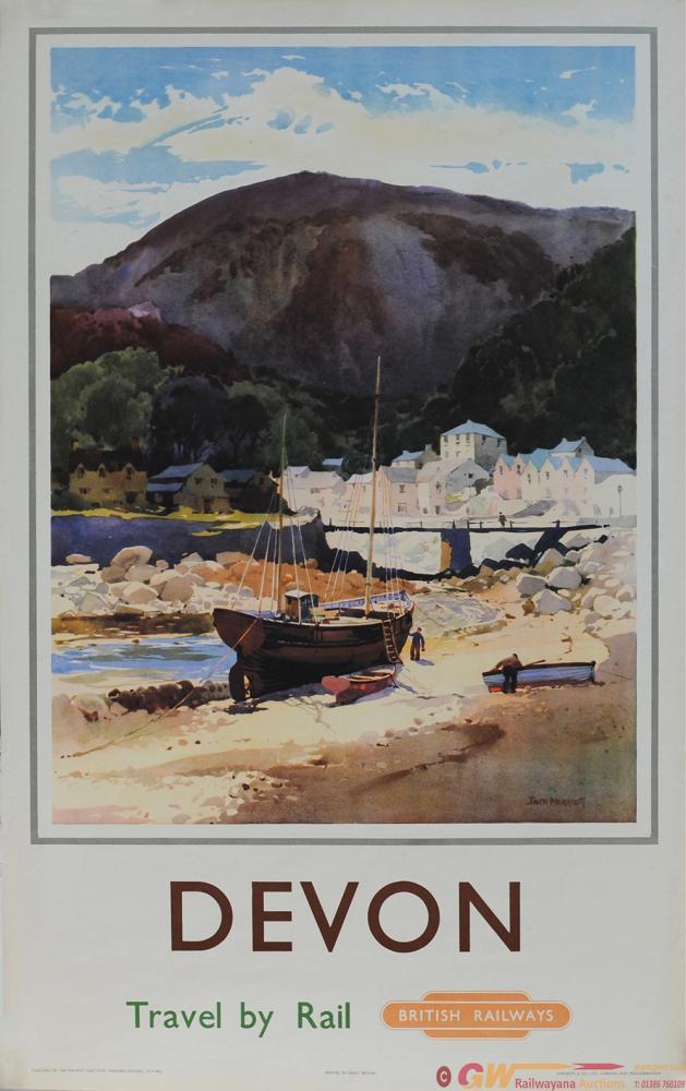 Poster ' Devon - Travel By Rail' By Jack Merriott