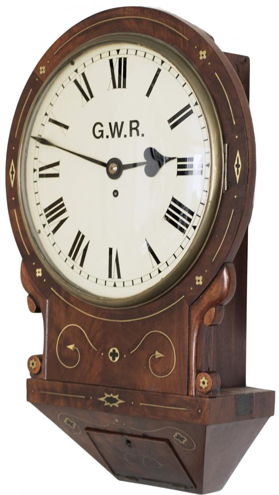 Great Western Railway 12 Inch Dial Rosewood Cased