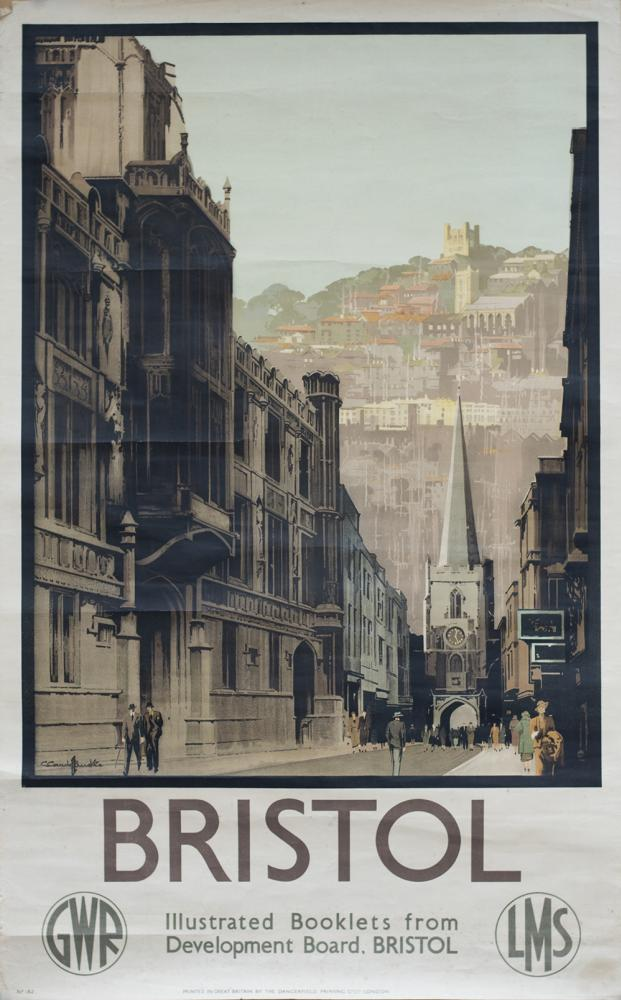 Poster GWR & LMS BRISTOL By Claude Buckle. Double